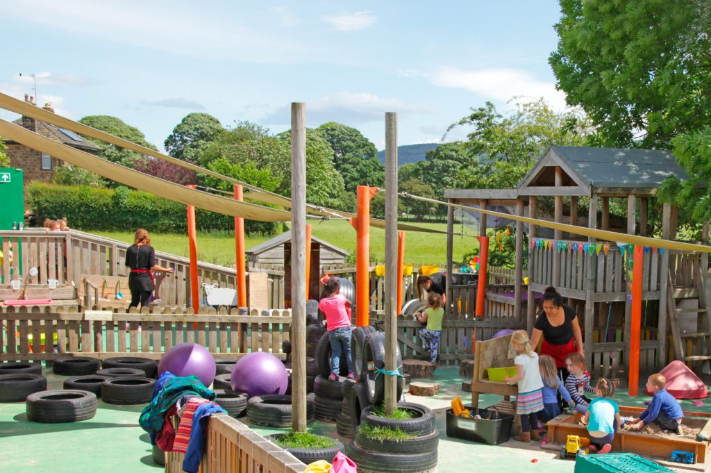 otley day care nursery outdoor area